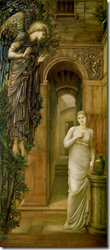 The Annunciation_Edward Burne-Jones_ 1879_ Oil on canvas_ 98 x 41 in_ National Museums and Galleries on Merseyside